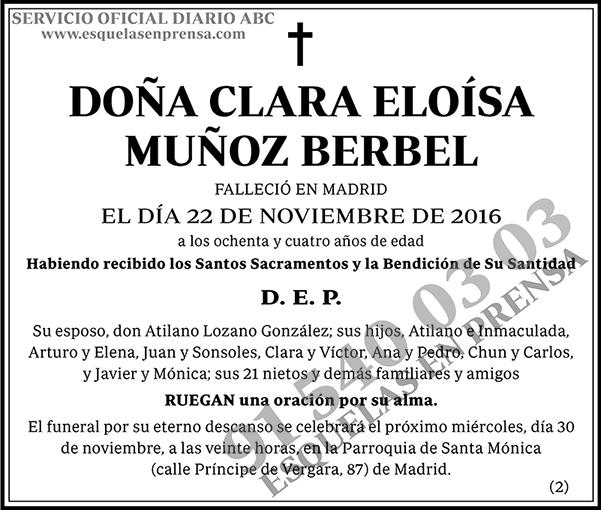Clara Eloísa Muñoz Berbel